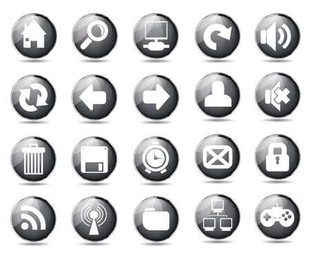 Web icons Stock Vector - 21059709