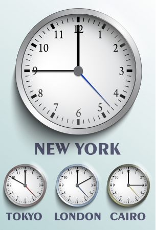 World clock Stock Vector - 21059712