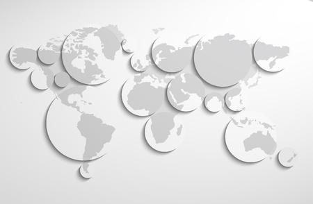 World map circles Vector
