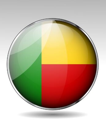 Benin flag icon Illustration