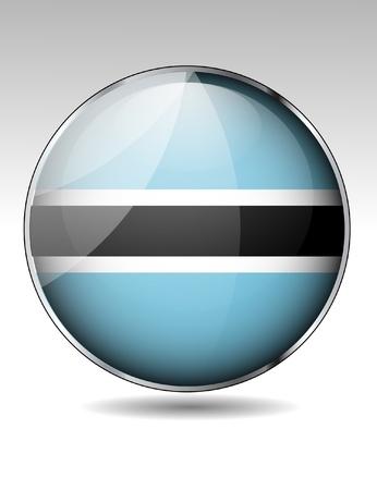 Botswana flag button Stock Vector - 22150282