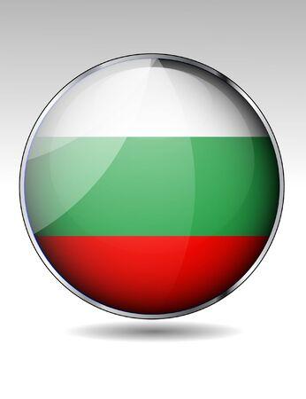 Bulgaria flag button Stock Vector - 22150281