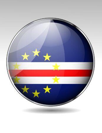 cape verde flag: Cape Verde flag button