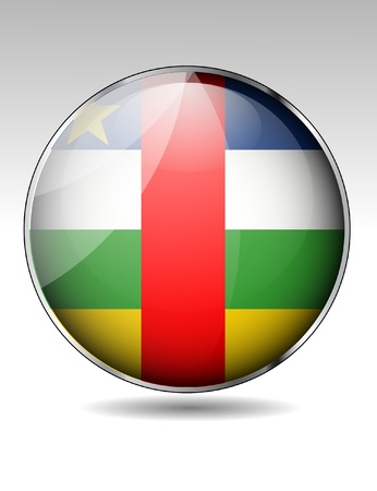 Central African Republic flag button Stock Vector - 22150290