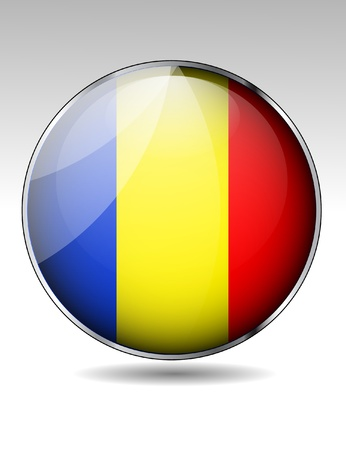 chad: Chad flag button Illustration