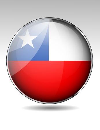 bandera de chile: Botón de la bandera de Chile