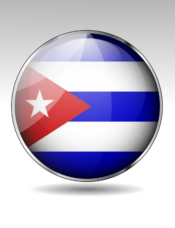 kuba flagge: Cuba flag icon Illustration