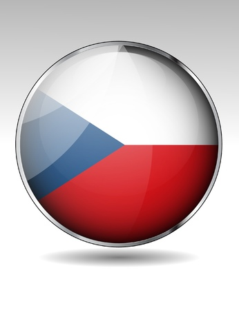 Czech Republic flag icon Stock Vector - 22150302