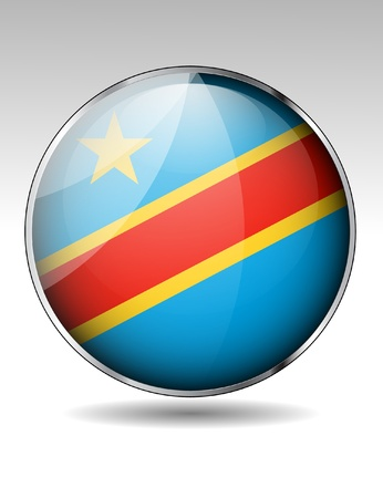 republic of the congo: Democratic Republic of the Congo flag icon Illustration