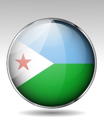 djibouti: Djibouti flag icon Illustration