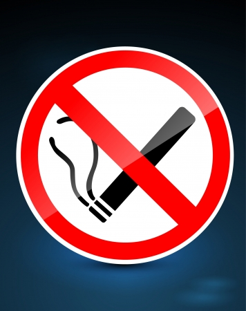 exclude: No smoking sign