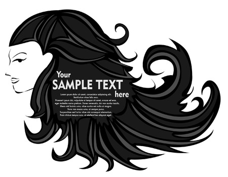 Abstract woman hair Vector