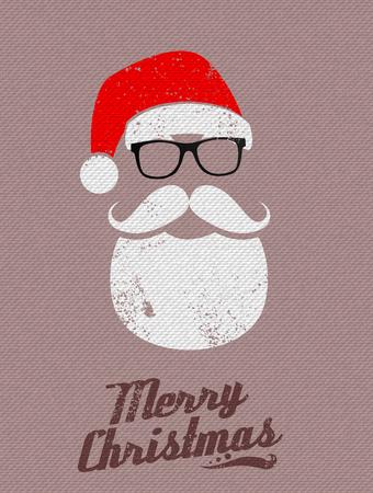 wesolych swiat: Christmas Santa background Ilustracja