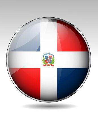 antilles: Dominican Republic flag button