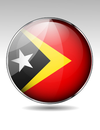 East Timor flag button Stock Vector - 22727420