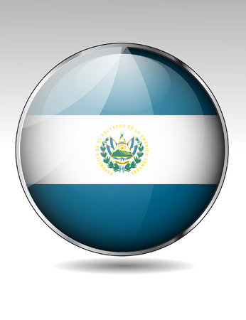 el salvador: El Salvador flag button Illustration