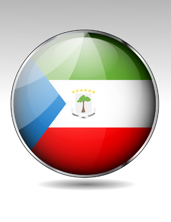 equatorial: Equatorial guineat flag button Illustration