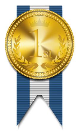 Gouden medaille winnaar Stock Illustratie