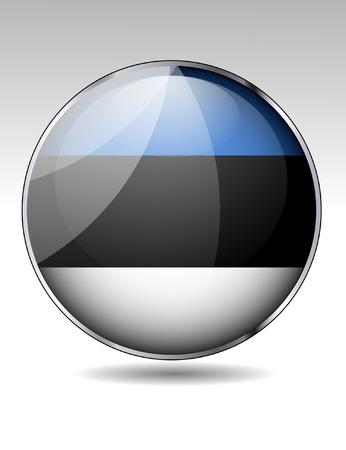 creativy: Estonia flag button