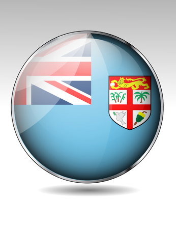 Fiji flag button