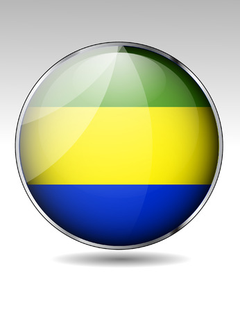 gabon: Gabon flag button