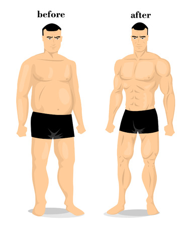 Before and after Illustration
