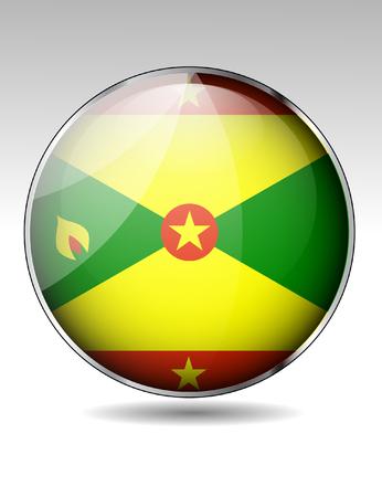 grenada: Grenada flag button