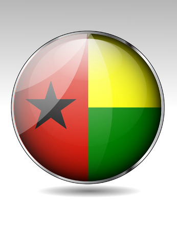 guinea: Guinea Bissau flag button