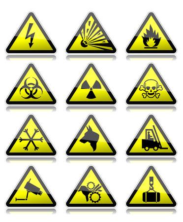 riesgo biologico: Las señales de advertencia Vectores