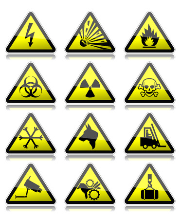 Warning signs Stock Vector - 23661828