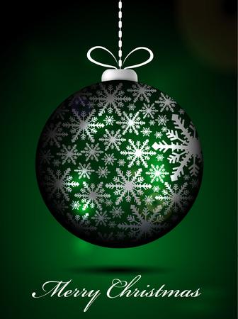 winter solstice: Green Christmas globe