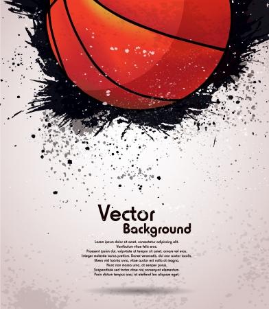 Grunge basketbal achtergrond Stock Illustratie