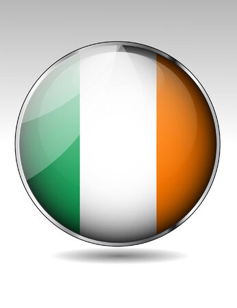 irish pride: Ireland flag button