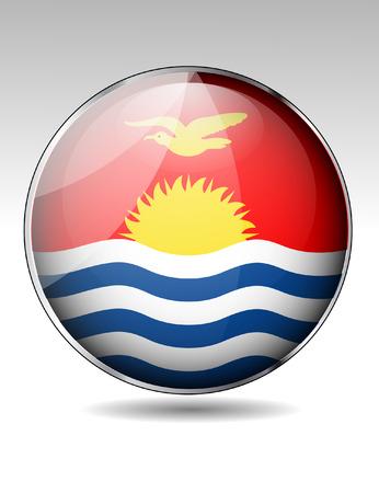 kiribati: Kiribati flag button Illustration