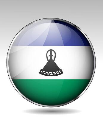lesotho: Lesotho flag button