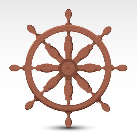 Nautical rudder Vector