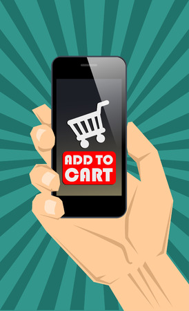 Shopping online  with smartphone concept  Vector