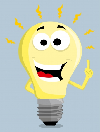 yellow bulb: Cartoon Light Bulb