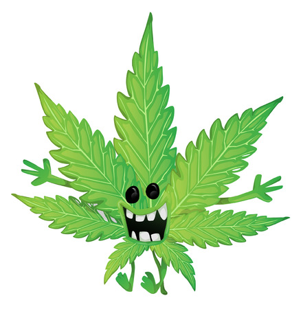 lowbrow: Funny marijuana leaf