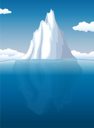Iceberg illustration  Ilustracja