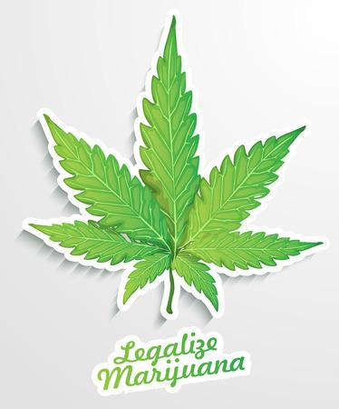 ivresse: L�galiser la marijuana illustration Illustration