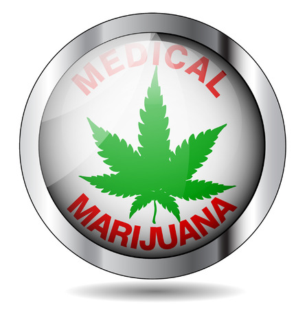 addictive: Medical Marijuana icon illustration