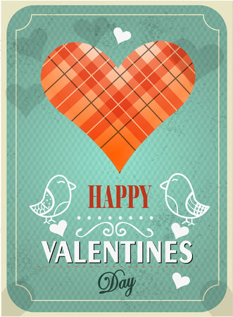 Textured Valentines Day background illustration  Vector