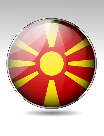 macedonia: Macedonia flag button