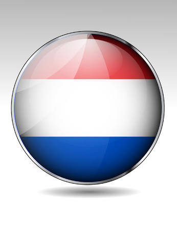 Luxemburg flag button Vector