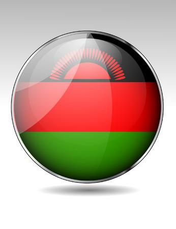 malawi flag: Malawi flag button