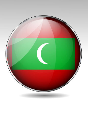 light maldives: Maldives flag button