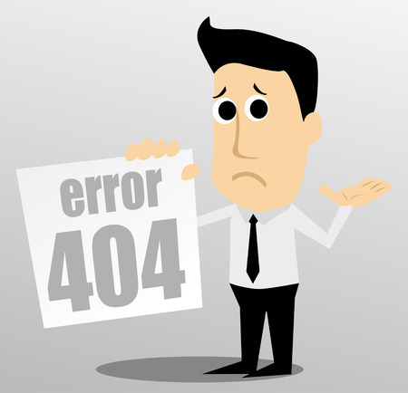 404 error Stock Illustratie
