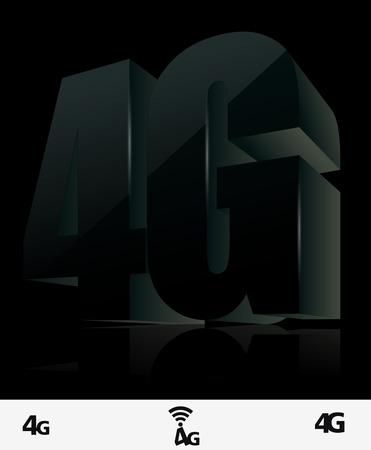 gprs: 4G icon Illustration