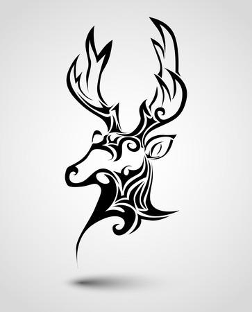 Deer head tattoo Vector